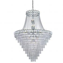 Corpuri de iluminat Lustre pentru casa scarii - Lustra cristal casa scarii design LUX Louis Philippe 28L