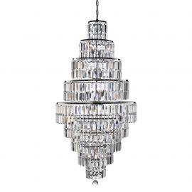 Corpuri de iluminat Lustre pentru casa scarii - Lustra cristal casa scarii design LUX Empire 13L