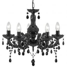 Candelabre, Lustre - Candelabru stil clasic Marie Therese 5L negru