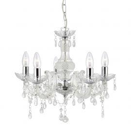 Candelabre, Lustre - Candelabru stil clasic Marie Therese 5L transparent