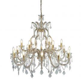 Corpuri de iluminat Lustre pentru casa scarii - Candelabru XXL casa scarii design clasic Marie Theresea 18L