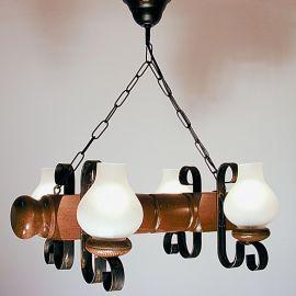 Candelabru rustic fabricat manual din lemn Rustic 4L