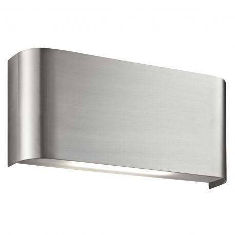 Aplice, corpuri de iluminat pentru pereti - Aplica LED moderna design ambiental minimalist Wall argintiu satin