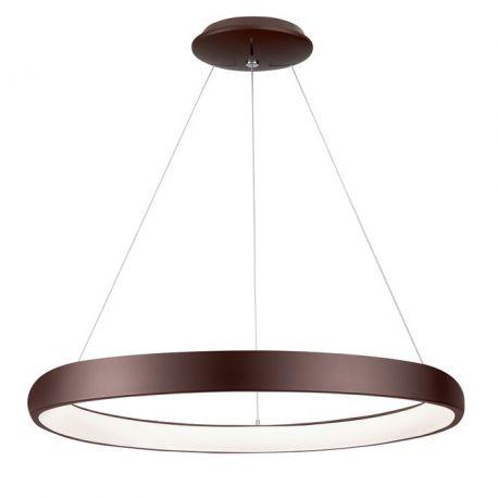 Pendule, Lustre suspendate - Lustra LED dimabila, design modern Albi maro, 81cm