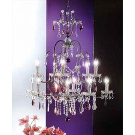 Candelabre, Lustre - Candelabru cristal cu 11 brate Verona antik-silber