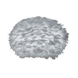 Pendule, Lustre suspendate - Abajur modern cu pene de gasca EOS gri deschis, 65cm