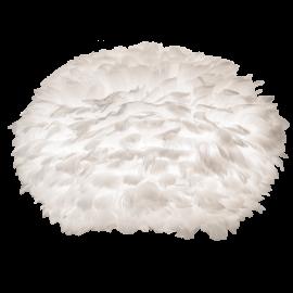 Pendule, Lustre suspendate - Abajur modern cu pene de gasca EOS alb, 45cm