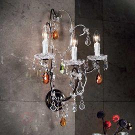 Aplice, corpuri de iluminat pentru pereti - Aplica cristal cu 3 brate Verona antik-gold