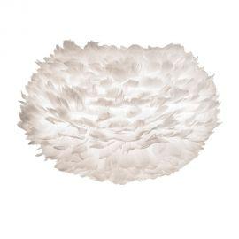 Pendule, Lustre suspendate - Abajur modern cu pene de gasca EOS alb, 22cm