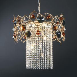 Candelabre, Lustre - Lustra design LUX realizata manual, stil organic Diamond, 52cm