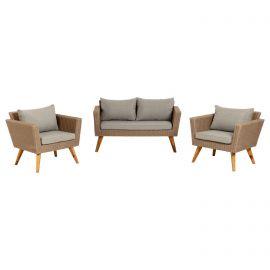 Canapele - Set, canapea cu 2 fotolii, de exterior si interior Sumie