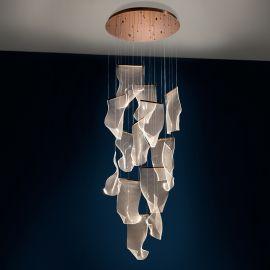 Corpuri de iluminat Lustre pentru casa scarii - Lustra LED ultra-moderna design exclusivist Ø70cm Velos