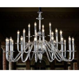 Corpuri de iluminat Lustre pentru casa scarii - Candelabru XXL casa scarii design lux Ø120cm Stelas