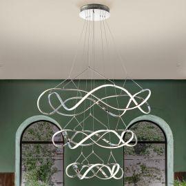 Corpuri de iluminat Lustre pentru casa scarii - Lustra LED XXL pentru casa scarii design lux Ø110cm Molly