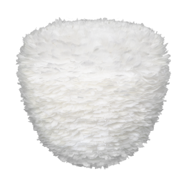 Pendule, Lustre suspendate - Abajur modern cu pene de gasca Eos Evia large alb