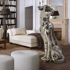 Statuete - Figurina decorativa design lux Leopard Baguira LEFT