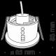 Iluminat pentru baie - Spot incastrabil cu protectie IP65 Zoom negru