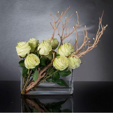 Aranjamente florale LUX - Aranjament floral ETERNITY RECTANGULAR SANTORINI