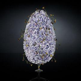 Aranjamente florale LUX - Aranjament floral mare design LUX DROP ROSES SOLANIUM
