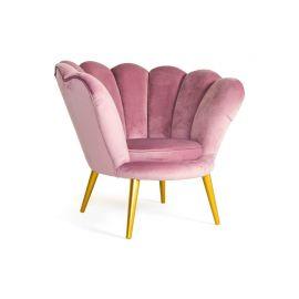 Fotolii - Fotoliu elegant catifea roz MAGNOLIA
