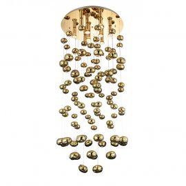 Lustra XL moderna design deosebit Ø60cm Luvia auriu