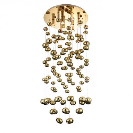 Candelabre, Lustre - Lustra XL moderna design deosebit Ø60cm Luvia auriu