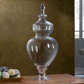 Vaze - Vaza decorativa cu capac GLASS VASE 60cm