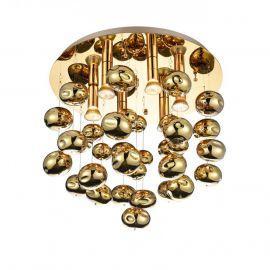 Lustra moderna aplicata design deosebit Ø49cm Luvia auriu