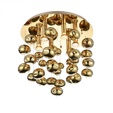 Lustre aplicate - Lustra moderna aplicata design deosebit Ø49cm Luvia auriu