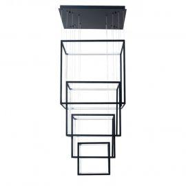 Corpuri de iluminat Lustre pentru casa scarii - Lustra LED XXL design modern casa scarii Opera XL neagra