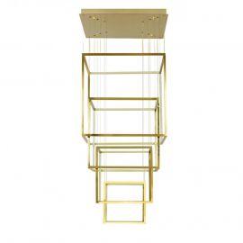 Corpuri de iluminat Lustre pentru casa scarii - Lustra LED XXL design modern casa scarii Opera XL aurie