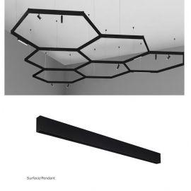Spoturi, Proiectoare pe sina  - Sina magnetica aplicata sau suspendata BUXTON 01, 1000cm
