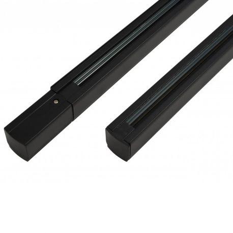 Proiectoare LED spatii comerciale - Sina trifazata neagra TRACK SET 1m