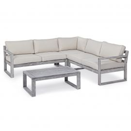Mobilier terasa - Set, mobilier 4 piese pentru exterior HAITI GREY
