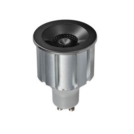 Bec LED GU1O design decorativ Elegant Bulb 7W 3000K negru/crom