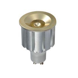 Bec LED GU1O design decorativ Elegant Bulb 7W 3000K auriu/crom