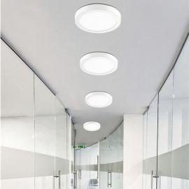 Plafoniere cu spoturi, Spoturi aplicate - Aplica perete sau tavan cu iluminat LED SURFACE 4000K, 22,5cm