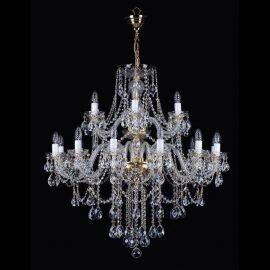 Lustre Cristal Bohemia  - Candelabru 18 brate Cristal Exclusiv BIBIANA XVIII.