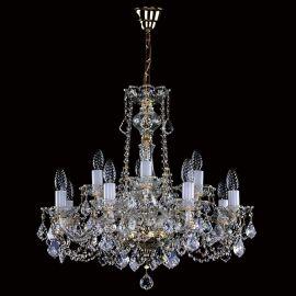 Lustre Cristal Bohemia - Candelabru 12 brate Cristal Exclusive COURTNEY XII. VA-PE