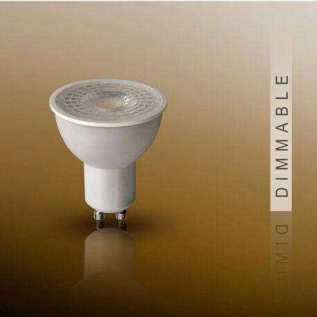 Becuri GU10 - Bec DIMMABLE LED dicroic GU10, 7W 3000K