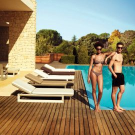 Sezlonguri - Sezlong exterior modern design premium FRAME SUN CHAISE