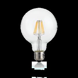 Becuri E27 - Bec LED dimabil E27 08W GLOBO D095 TRASP 3000K