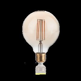 Becuri E27 - Bec LED dimabil E27 VINTAGE 04W GLOBO D095 AMBRA 2200K