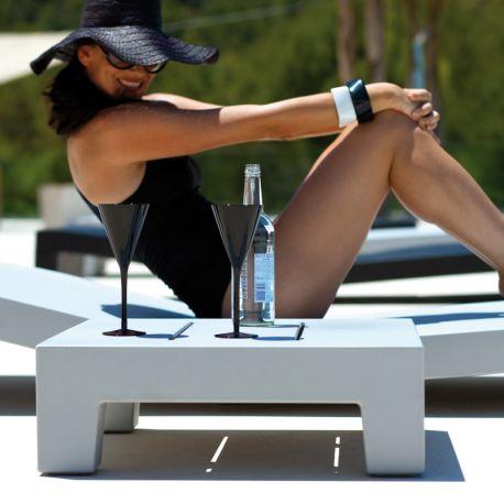 Mese - Masuta auxiliara de exterior / interior design modern premium JUT SUN CHAISE TABLE