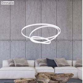 Lustra moderna suspendata, diametru 80cm, LED dimabil DEA