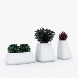 Ghivece - Ghiveci plante / Vaza flori exterior / interior design modern premium MOMA PLANTER LOW