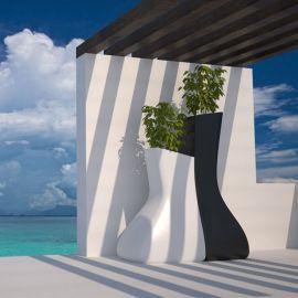 Ghiveci plante / Jardiniera de flori exterior / interior design modern premium MOMA MELLIZAS LOW