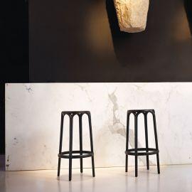 Set de 4 Scaune inalte / Tabureti de bar exterior / interior design modern premium BROOKLYN COUNTER STOOL H-66cm