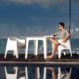 Set de 4 Scaune moderne de exterior / interior design premium SOLID ARMCHAIR