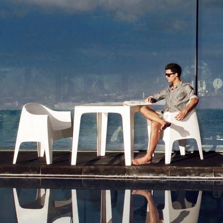 Scaune - Set de 4 Scaune moderne de exterior / interior design premium SOLID ARMCHAIR